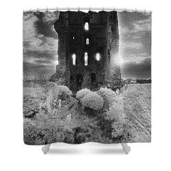 Helmsley Castle Shower Curtain by Simon Marsden