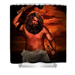 Hephaestus Shower Curtain by Lourry Legarde
