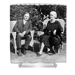 Herbert Hoover Seated With His Wife Shower Curtain by International  Images