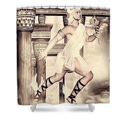 Hermes Shower Curtain by Lourry Legarde