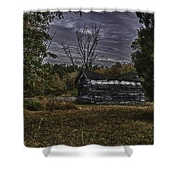 Hermit Life Shower Curtain by Ryan Crane