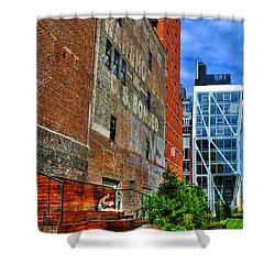 High Line Park Scene Shower Curtain by Randy Aveille