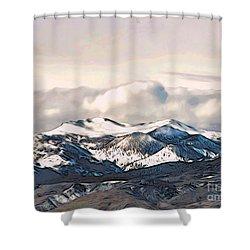 High Sierra Mountains Shower Curtain by Phyllis Kaltenbach