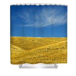 Hills And Clouds, Cypress Hills Shower Curtain by Mike Grandmailson