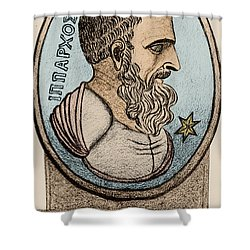 Hipparchus, Greek Astronomer Shower Curtain by Photo Researchers, Inc.