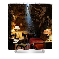Historic Prison Cell Of Al Capone Shower Curtain by Gary Whitton