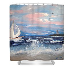 Hms Bonnie Shower Curtain by Donna Blackhall
