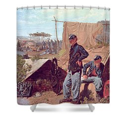 Home Sweet Home Shower Curtain by Winslow Homer