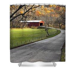 Hoosier Autumn - D007843a Shower Curtain by Daniel Dempster