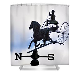 Horse And Buggy Weather Vane Shower Curtain by Bill Cannon