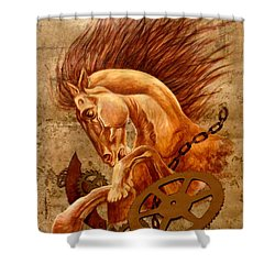 Horse Jewels Shower Curtain by Lena Day