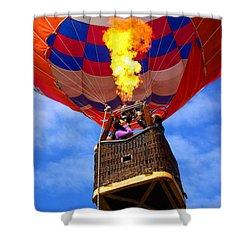 Hot Air Balloon Shower Curtain by Carlos Caetano
