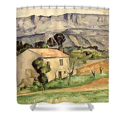 House In Provence Shower Curtain by Paul Cezanne