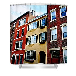 Houses In Boston Shower Curtain by Elena Elisseeva