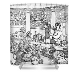 Humphrey Davy Lecturing, 1809 Shower Curtain by Science Source