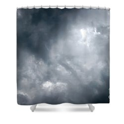 I Am No Storm Chaser Cloud Shower Curtain by Andee Design