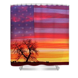 I Am Thankful To Be An American Shower Curtain by James BO  Insogna