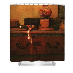 I Do Love Pearls Shower Curtain by RC deWinter