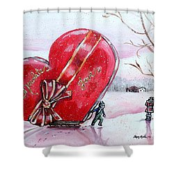 I Love You Thiiis Much Shower Curtain by Shana Rowe Jackson
