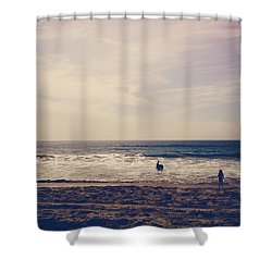 I Want To Swim In The Ocean With You Shower Curtain by Laurie Search