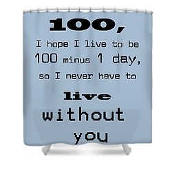 If You Live To Be 100 - Blue Shower Curtain by Georgia Fowler