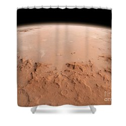 Illustration Of The Argyre Impact Basin Shower Curtain by Walter Myers