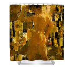 I'm Waiting For You    Male Shower Curtain by Kurt Van Wagner