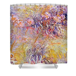 Impression - Flowers Shower Curtain by Claude Monet