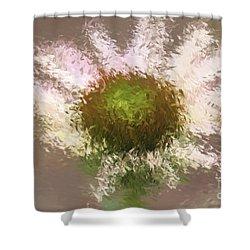 Impressionistic Echinacea Shower Curtain by Deborah Benoit