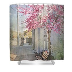 In A Small Town Shower Curtain by Laurie Search