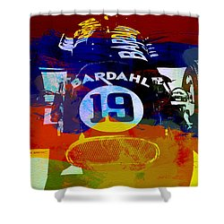 In Between The Races Shower Curtain by Naxart Studio