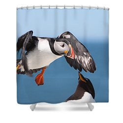 Incoming  Shower Curtain by Bruce J Robinson