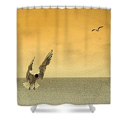Incoming Shower Curtain by Linsey Williams