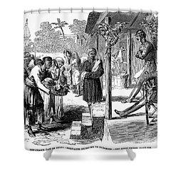 India: New Years Day, 1859 Shower Curtain by Granger
