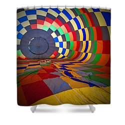 Inflating Shower Curtain by Rick Berk