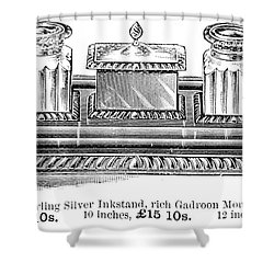 Inkstand, 19th Century Shower Curtain by Granger