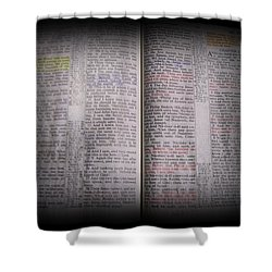 Inspirations 16 John 1 V14 Shower Curtain by Sara  Raber