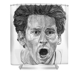 Intensity Lionel Messi Shower Curtain by Tamir Barkan