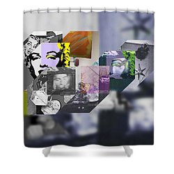 Interior Iv Shower Curtain by Charles Stuart