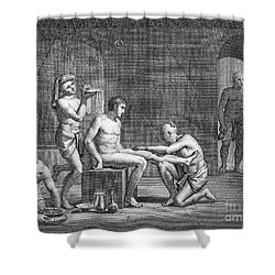 Interior Of Egyptian Bath Shower Curtain by Granger