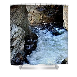 Into The Abyss Shower Curtain by Skip Willits