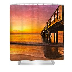 Into The Light Shower Curtain by Debra and Dave Vanderlaan