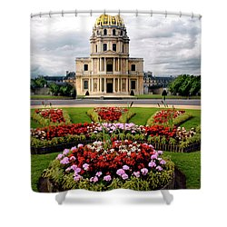 Invalides Paris France Shower Curtain by Dave Mills