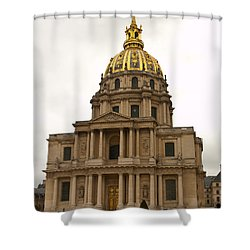 Invalides Paris France Shower Curtain by Jon Berghoff