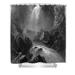 Ireland: Devils Glen, C1840 Shower Curtain by Granger