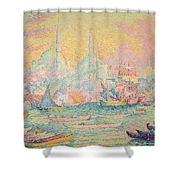 Istanbul Shower Curtain by Paul Signac