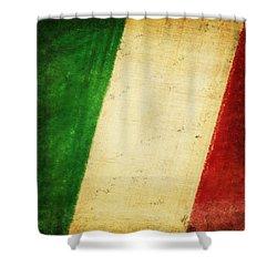 Italy Flag Shower Curtain by Setsiri Silapasuwanchai