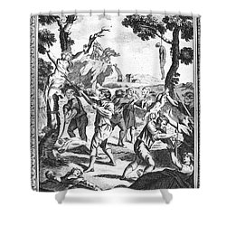 Italy: Protestant Martyrs Shower Curtain by Granger