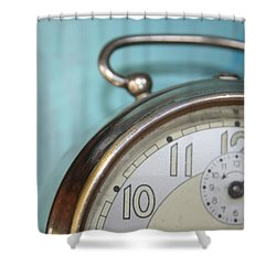 It's Time Shower Curtain by Georgia Fowler