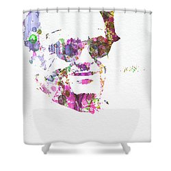 Jack Nicolson 2 Shower Curtain by Naxart Studio